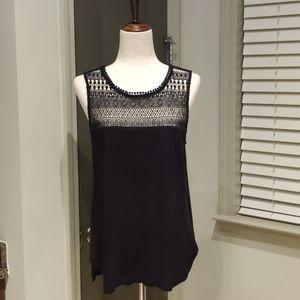 H&M Black Sleeveless Detailed Top
